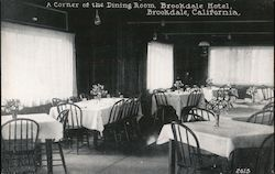 A Corner of the Dining Room, Brookdale Hotel Postcard