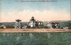 Ballast Point, Entrance to San Diego Bay Postcard