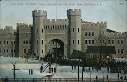 65th Regt. Entering Their Armory for the First Time Postcard