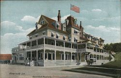 The Riverside Inn, Adirondack Mountains, Saranac Lake, NY Postcard