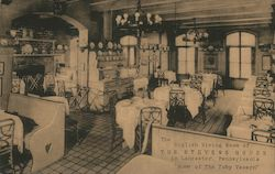 English Dining Room of the Stevens House Postcard