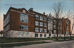 Harding High School Postcard