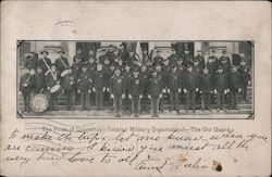 The Pride of Columbus, Veteran Military Organization, The old Guard. Band, flag, soldiers. Postcard