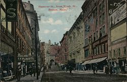 Hanover St., from Wash. St. Postcard