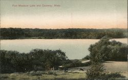 Fort Meadow Lake and Causway Postcard