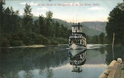 At. the Head of Navigation of St. Joe River Postcard