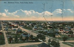 BIRDSEYE VIEW, TWIN FALLS, IDAHO Postcard