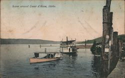 Scene Around Coeur d'Alene Postcard