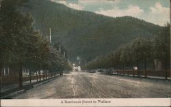 A Residence Street in Wallace Postcard