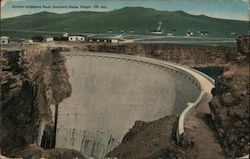 Salmon Irrigation Dam, Southern Idaho, Height 220 feet Postcard