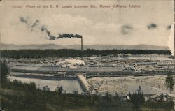 Plant of the B.R. Lewis Lumber Co. Postcard