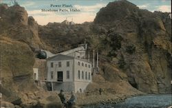 Power Plant, Shoshone Falls Postcard