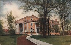 Residence of D.R. Francis Postcard