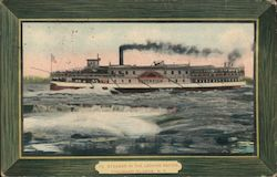 Steamer in the Lachine Rapids Postcard