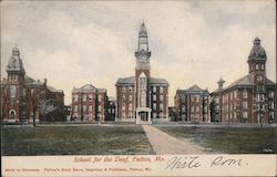 School for the Deaf Postcard