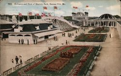 Entrance and View of Electric Park Postcard