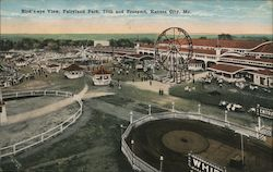 Birds-Eye View, Fairyland Park, 75th and Prospect Postcard