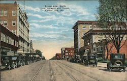 Troost Ave. North from Linwood and Troost Postcard