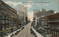 Main Street, South from 9th St. Postcard