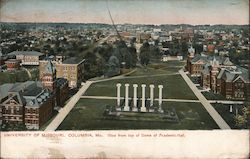 University of Missouri - View from Top of Dome of Academic Hall Postcard