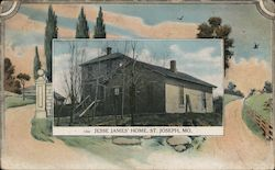 Jesse James' Home Postcard