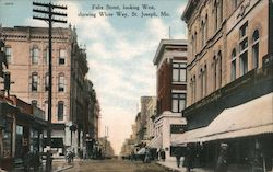 Felix Street, Looking West Showing White Way Postcard