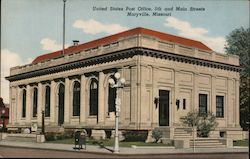 United States Post Office, 5th and Main Streets Postcard