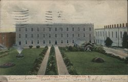Prison Court Showing Dining Hall Postcard