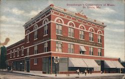 Strassberger's Conservatory of Music Postcard