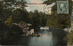 Scene Near St. Louis Postcard