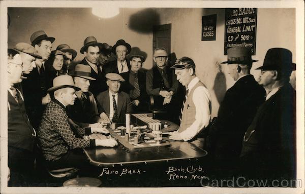Faro Bank Bank Club Reno Nevada