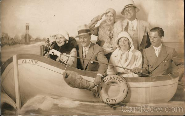 Tourists, Fishing Boat Picture in Atlantic City New Jersey
