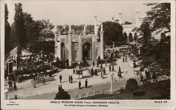 1924 Anglo Persian Kiosk from Canadian Pacific - British Empire Exhibition Wembley England