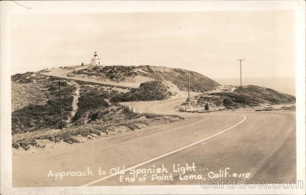 Approach to Old Spanish Lighthouse, Point Loma San Diego California