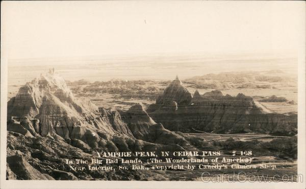 Vampire Peak in Cedar Pass, Badlands Interior South Dakota