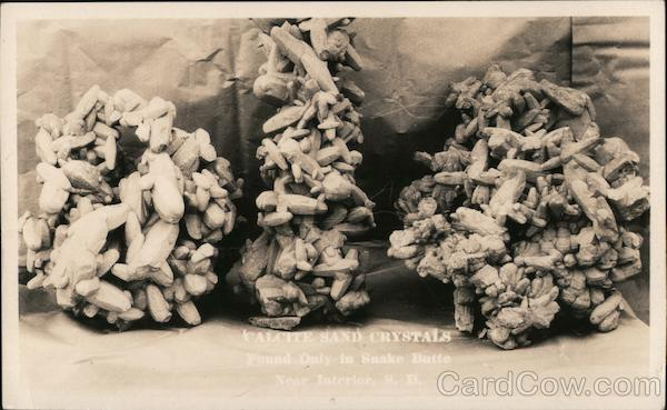 Rattlesnake Butte Calcite Sand Crystals Interior South Dakota