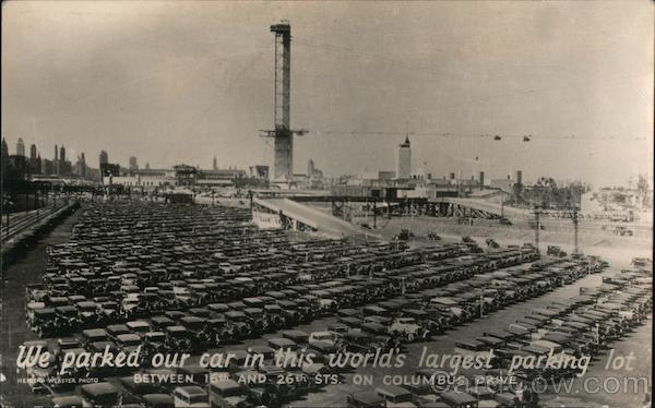 World's Largest Parking Lot - Chicago World's Fair Illinois
