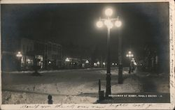Broadway at Night Postcard