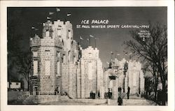 Ice Palace, Winter Sports Carnival -1941 Postcard