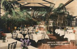 Garden Cafeteria, Tinted Photo Postcard