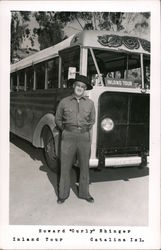 "Howard ""Curly"" Ehinger Inland Tour Bus Postcard"