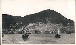Hong Kong from the Harbor Postcard