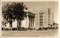 Washoe County Court House & Riverside Hotel Postcard