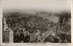 East River Bridges Postcard
