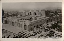 Bird's Eye View of Pennsylvania Station Postcard