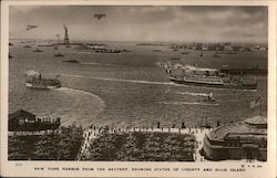 New York Harbor Postcard