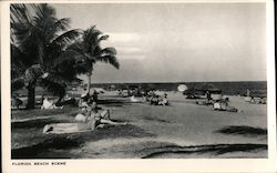 Florida Beach Scene Postcard