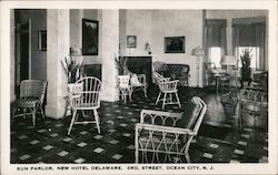 Sun Parlor, New Hotel Delaware, 3rd Street Postcard
