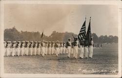 Recruits on parade at West Point Postcard