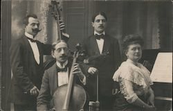 Portrait of a small orchestra Postcard